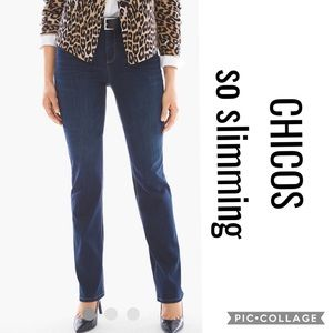 14- Chicos so lifting straight leg jeans